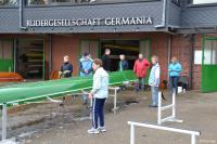 Bootsdienst bei der Rudergesellschaft Germania Kiel am 8. Nov. 2014