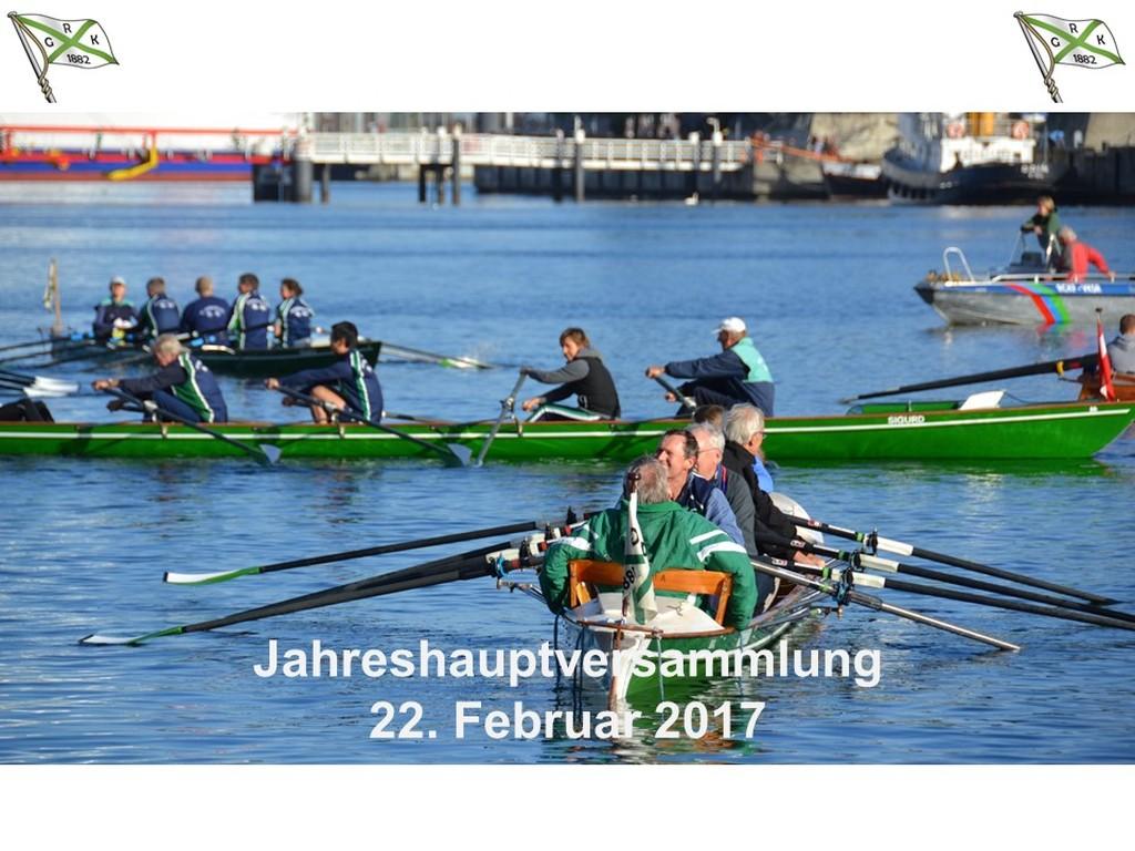 Jahreshauptversammlung der Rudergesellschaft Germania Kiel am 22. Feb. 2017