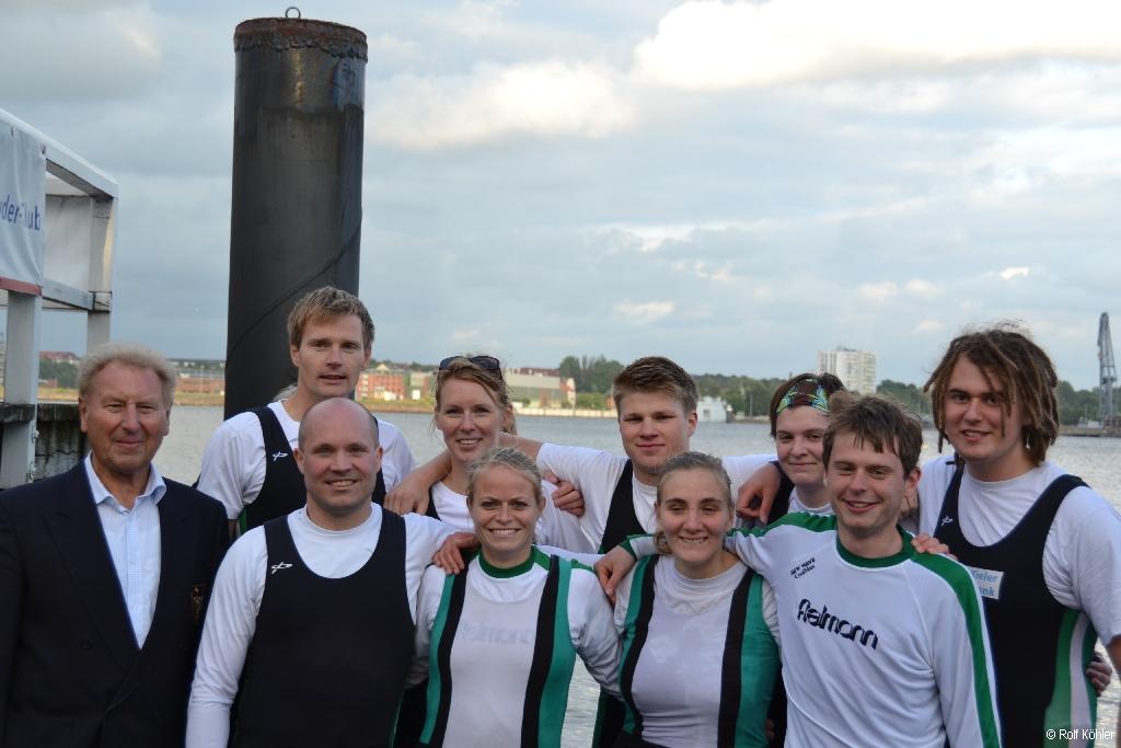 Die Mannschaft der RG Germania des Stadtachter-Rennens 2013
