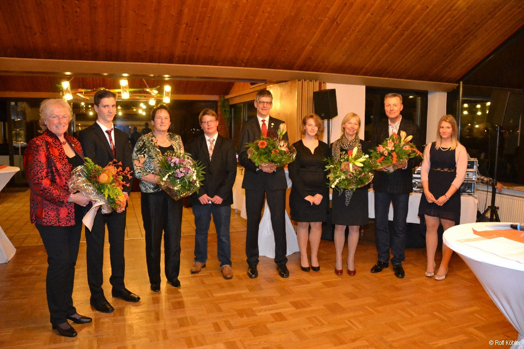 Ehrung der Jubilare auf dem 131-jähriges Stiftungsfest der Rudergesellschaft Germania Kiel am 16. Nov. 2013