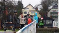 Rudern auf der Kieler Förde am 24. Dezember 2014