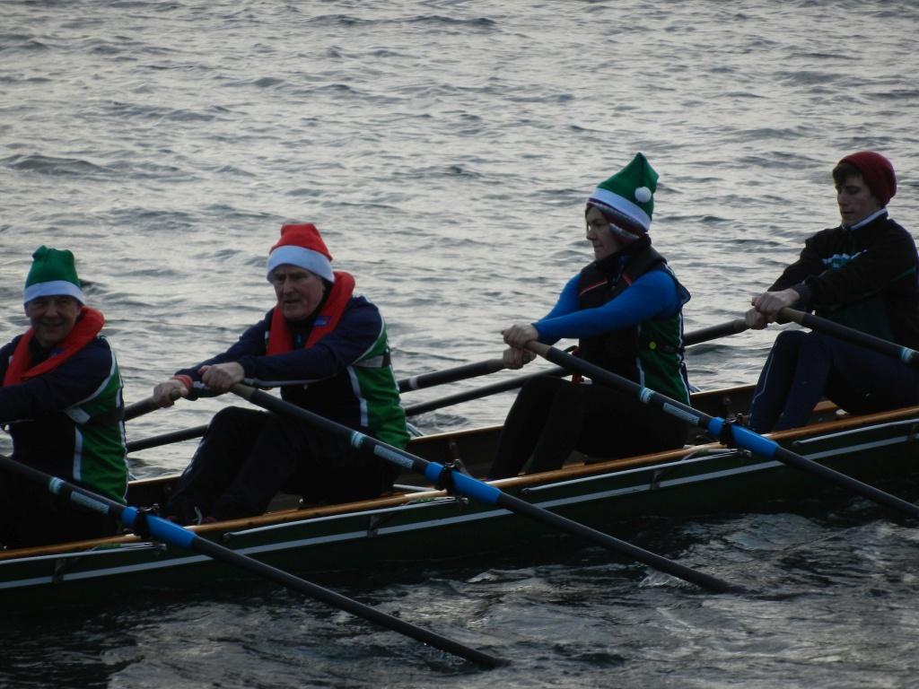 Rudern auf der Kieler Förde am 24. Dezember 2016