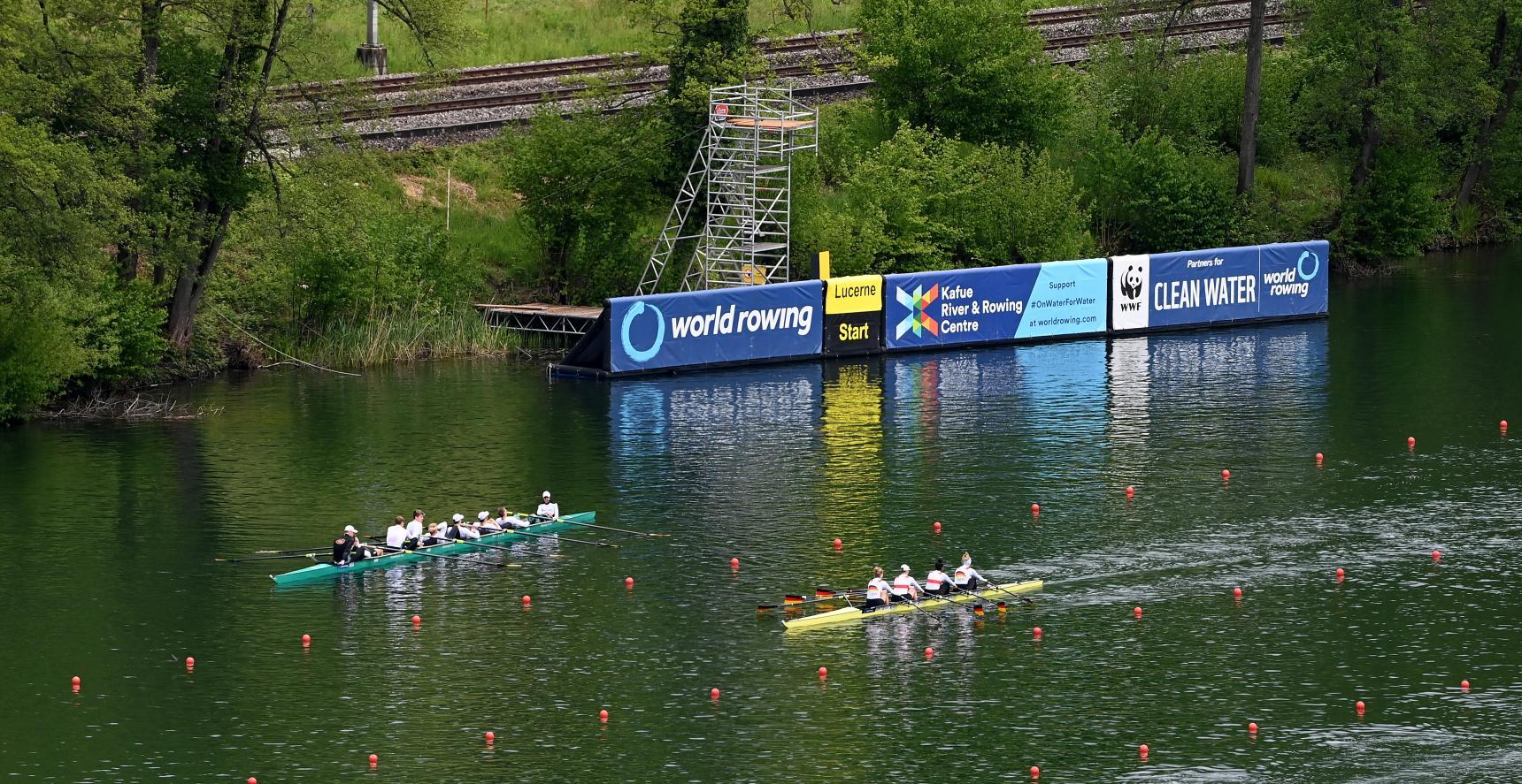 Frauen-Doppelvierer beim Weltcup II in Luzern (Schweiz)  vom 21. bis 23. Mai 2021