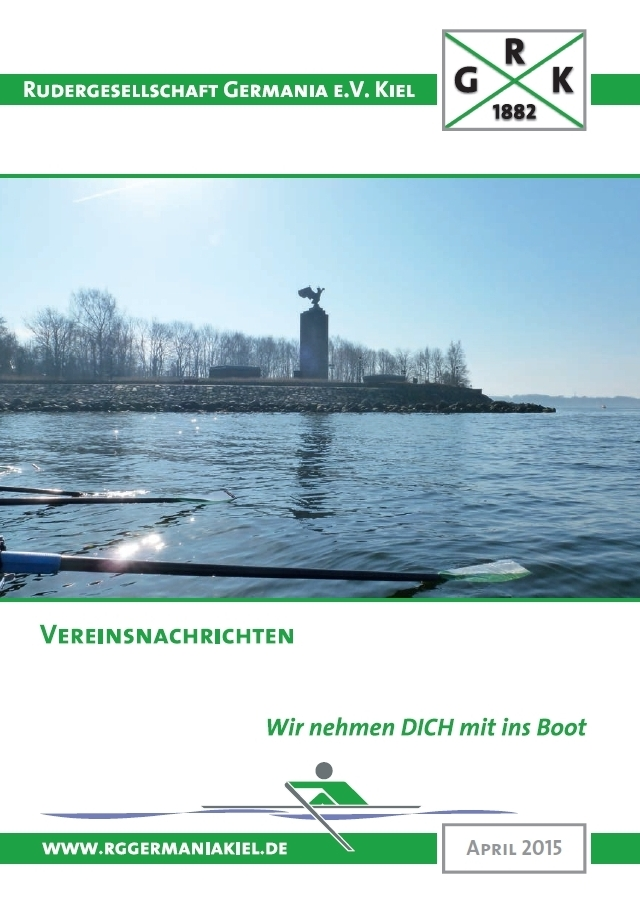Titelseite Vereinsnachrichten RG Germania April 2015